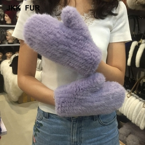 New Real Mink Fur Gloves Winter Warm Women Fashion Glove Fingerless Mittens High Quality Soft Fur