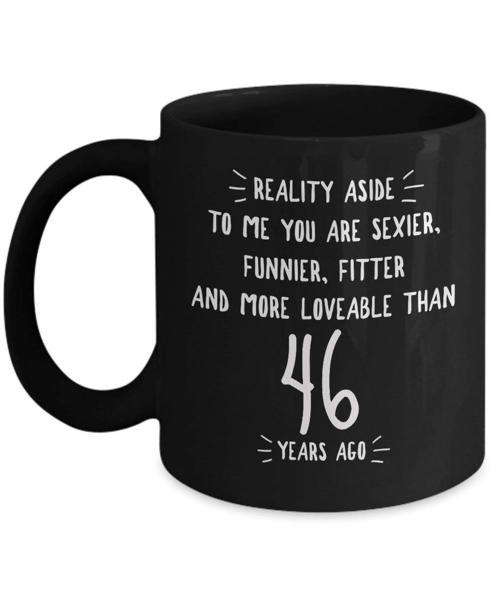 Get Quotations 46th Wedding Anniversary Gifts For Him Reality Aside 46 Th Yr Year Forty Six
