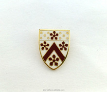 Custom gold plated hard enamel lapel pin for wholesale