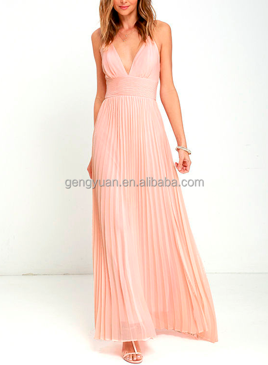 Women Pleated Vestidos De Fiesta
