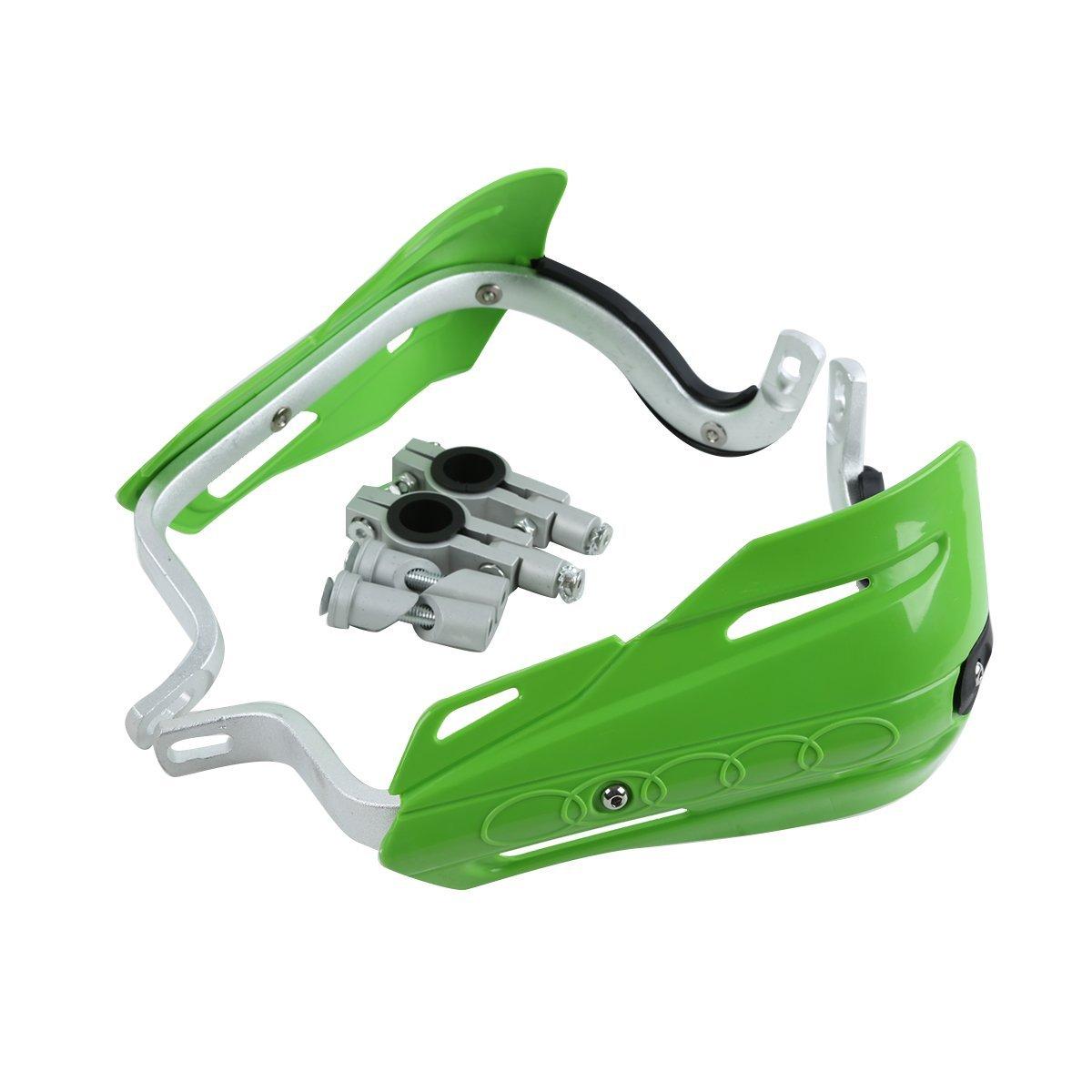 "XFMT Motorcycle Green 7/8""(22m) Universal Hand Guards Brush Bar Handguards For Honda Kawasaki Yamaha Suzuki Dirt Bike ATVs MX KTM"