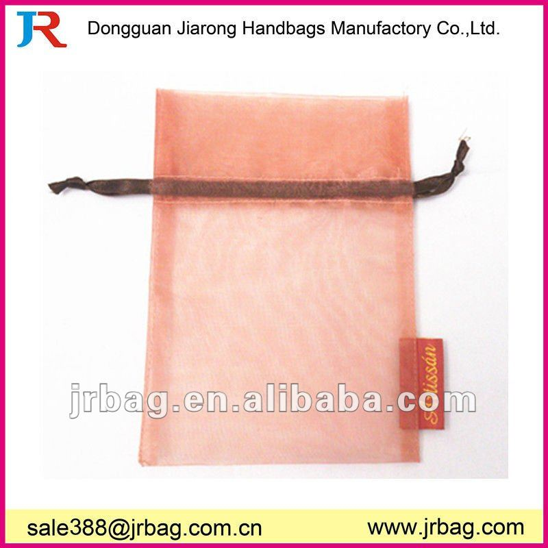 Promotinal Chinese Organza Handmade Jewelry Bags packing