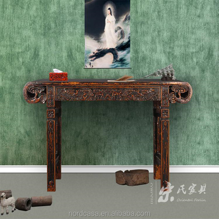 Chinese antique narrow wooden altar table