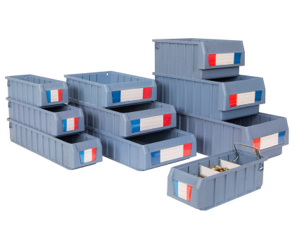 Warehouse Eco-friendly Stackable bin with partition plate
