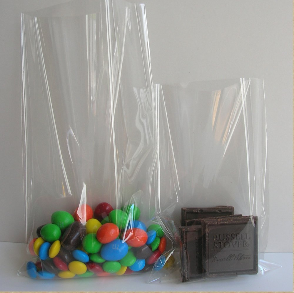 "100pcs 6""x10"" Clear Poly Bags with 100pcs Twist Ties"