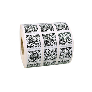 VS001082 Waterproof paper label printing qr code sticker
