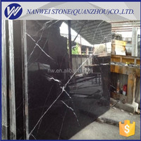 luxury design marble guangxi marble stone Nero Marquina/Black and white marble tiles margiua countertops