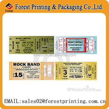 thermal ticket for concert custom printed concert tickets buy concert ticket thermal concert. Black Bedroom Furniture Sets. Home Design Ideas