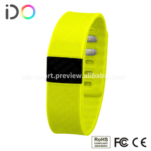 3D accelerometer waterproof wristband pedometer time date digital display sync bluetooth sync step calorie counter