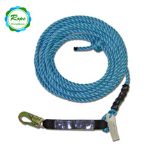 Heavy Duty Fall Protection Poly Safety Harness Rope with Self Locking Carabiner