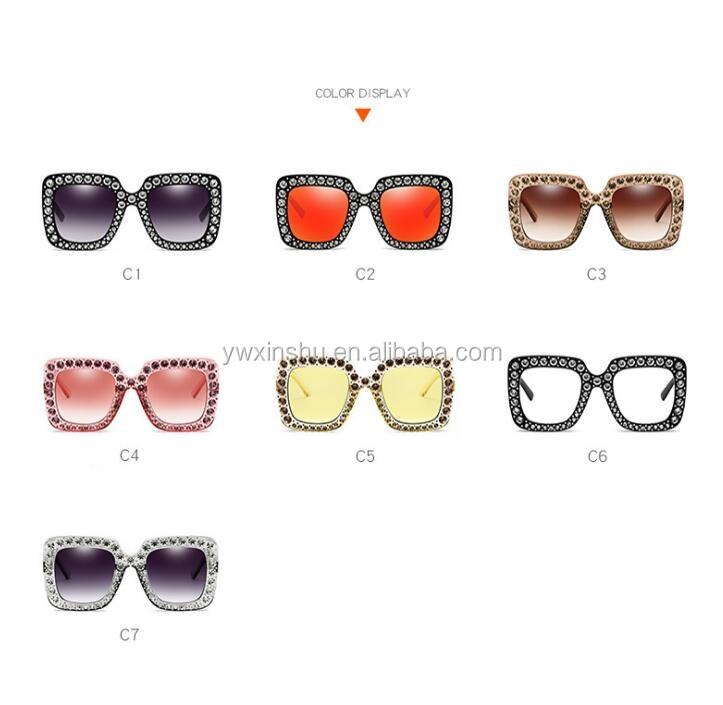 6b49899a69af8 Mulheres Quadrados Óculos De Sol de Marca Designer de Moda de alta Qualidade  strass Luxo Óculos