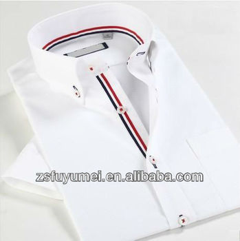 new design shirts 2014mens white business shirtformal