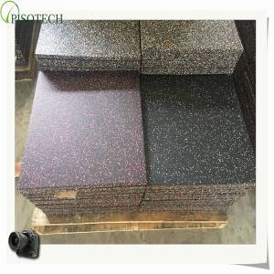 PISOTECH New Promotion Customized Available Factory from China Rubber Flooring Competitive Price Rubber Tile