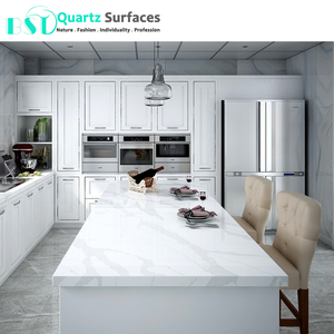 Statuario Quartz Stone Kitchen Dining Table Top