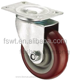 Medium Duty Swivel PU construction material caster For Furniture, Hardware, Industrial