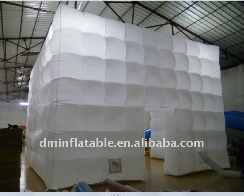 2012 white inflatable cube tent