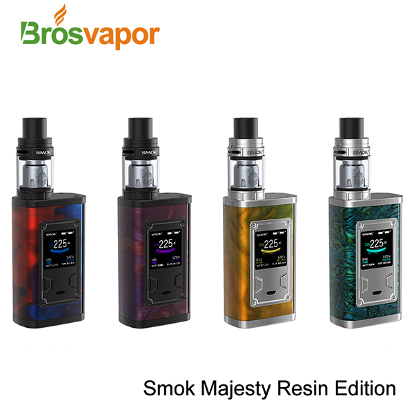2017 Trending Products SMOK Majesty 225W Carbon Fiber Starter Kit with TFV8 X-Baby Tank