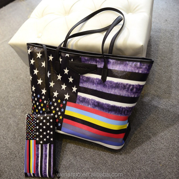 2015 Wholesale Retro USA Flag Shoulder Handbags