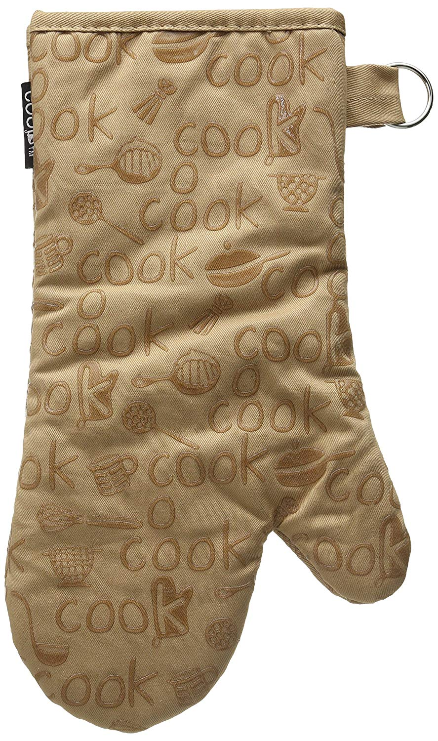 Kay Dee Designs Cook Collection Silicone Oven Mitt, Taupe