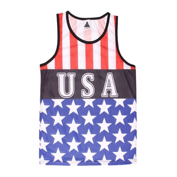 6cce0b15c55de Fashion women gym oversize sleeveless printed tank top quick dry sports vest  cheap jersey singlet custom