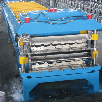 color steel metal aluminum glazed trapezoidal tile sheet roof wall panel roll forming machine