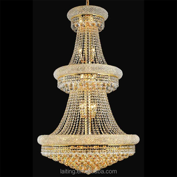 Suspension pendant light gold frame large cheap crystal chandeliers suspension pendant light gold frame large cheap crystal chandeliers for hotel foyer mozeypictures Image collections