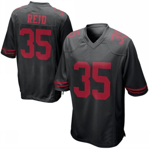 Size small-size 60 35 Eric Reid jerseys San Francisco Elite black American Football jersey New Stitched no tax