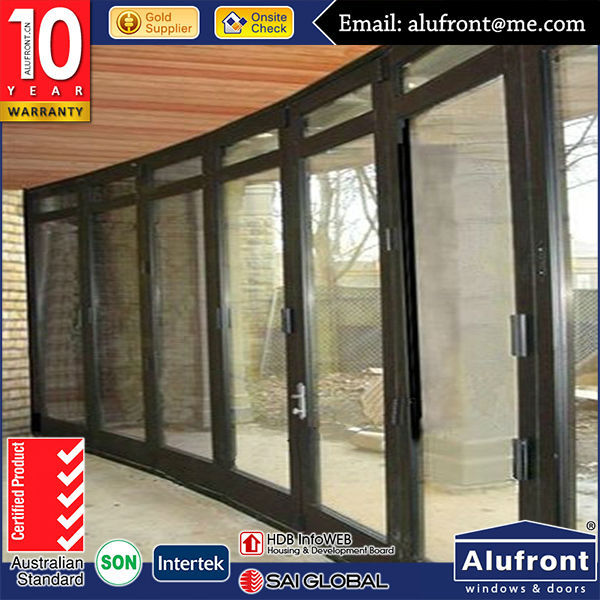 Australian As2047 As2208 standard 10 years warranty aluminium flat exterior folding door