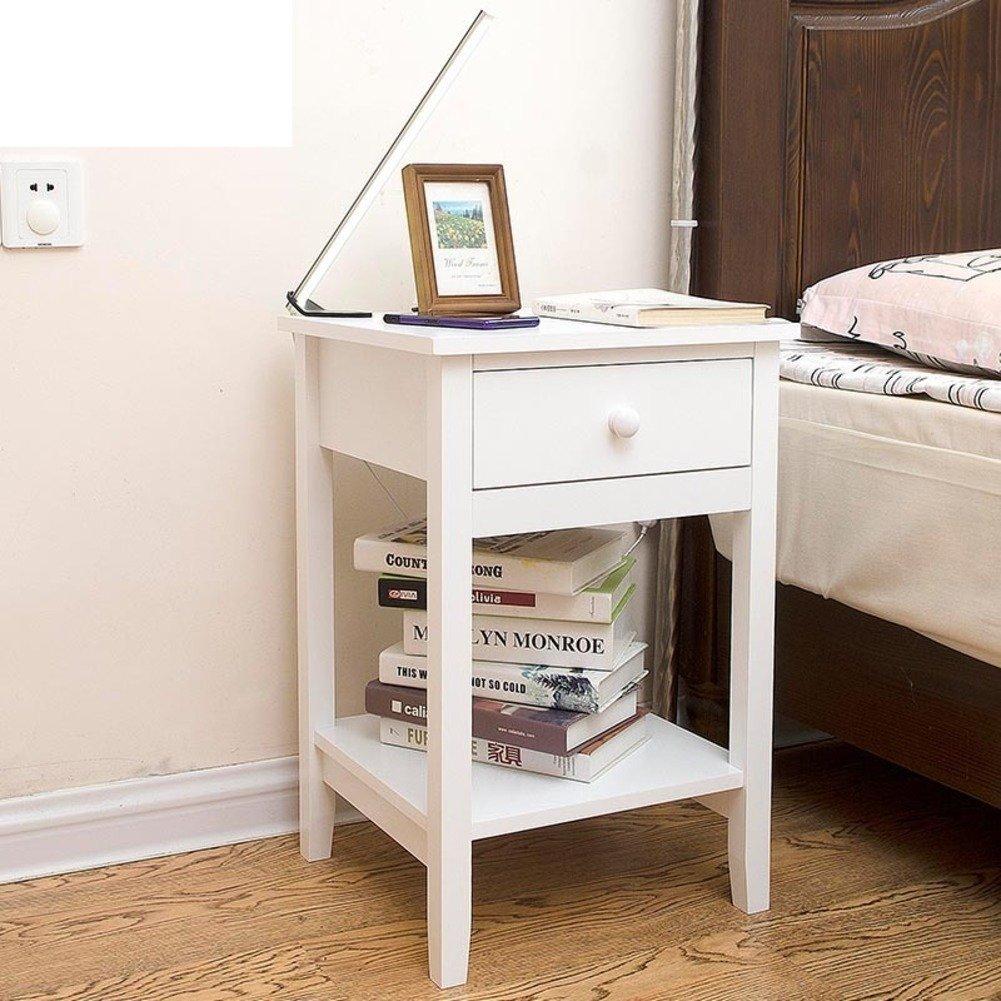 FJIWDTGYHFGT Modern minimalist,Mini nightstand wide white bedroom bedside locker storage cabinet bedside cabinet-A