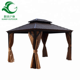 New Design Patio Gazebo Polyester Fabric Aluminium Pavilion, Galvanize Double Top Tent 300x365cm
