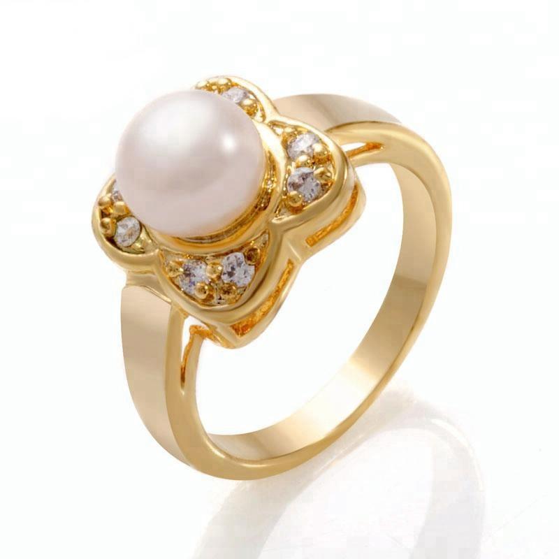 0d1040a34 Venta al por mayor anillo de oro con perla cultivada-Compre online ...
