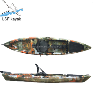 LSF single aluminum frame cheap pedal boat fishing kayak