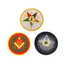 wholesale Iron on embroidery logo,custom masonic patches embroidery design