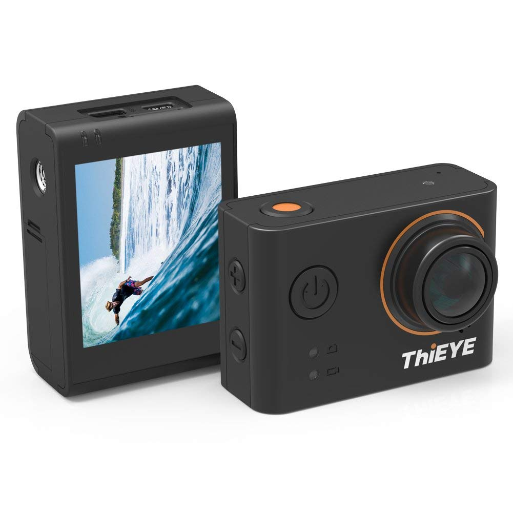 """ThiEYE T3 4K Action Camera Wifi Waterproof 60M Sport Video Camera 12MP Ultra-HD 2"""" LCD Screen with APP Control, 170 Wide Angle, and Full Accessories"""