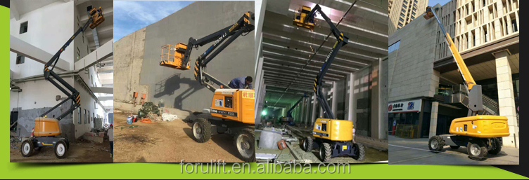 Good Price articulated towable boom lift for aerial work