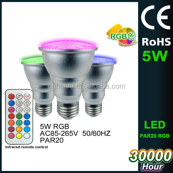 RGB Colour Changing LED Spotlight Outdoor Garden Security PAR20 Spotlight Lamp replace halogen