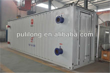 The movable asphalt heating device/heat exchanger