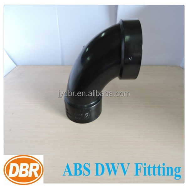 black abs dwv pipe and fittings upc approved 3 inch long radius 45 degree pipe elbow /astm plumbing fittings prices