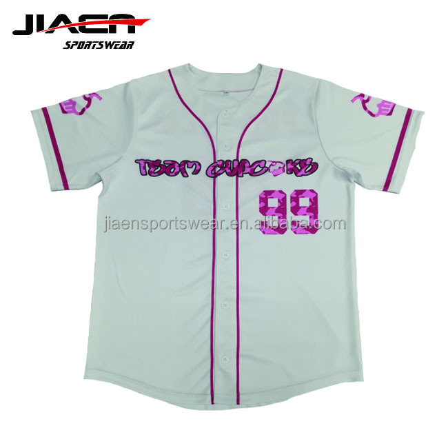 Custom Slim Fit Sublimatie 100% Polyester Set-in Mouwen Wit Baseball Jersey mens team usa softbal jerseys