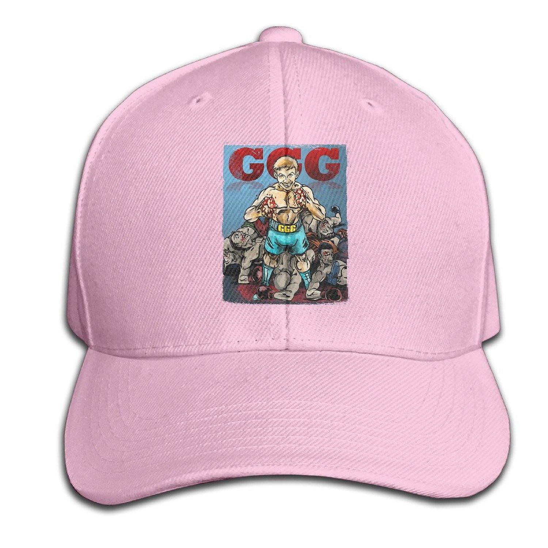 fcec160a5cd Kexiaos Gennady Golovkin GGG Boxing Plain Adjustable Snapback Hats Caps