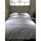 Cotton plain embroider bedding and bedlinen for hotel bedding set small bag with zipper