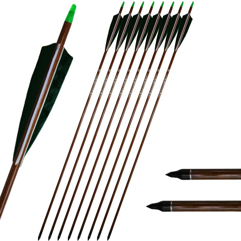 12 x 31/'/' Target Practice Archery Carbon Shaft Arrows Sp400 /& Arrows Quiver Gift