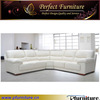 Top hot white leather sofa design catalogue PFS5511