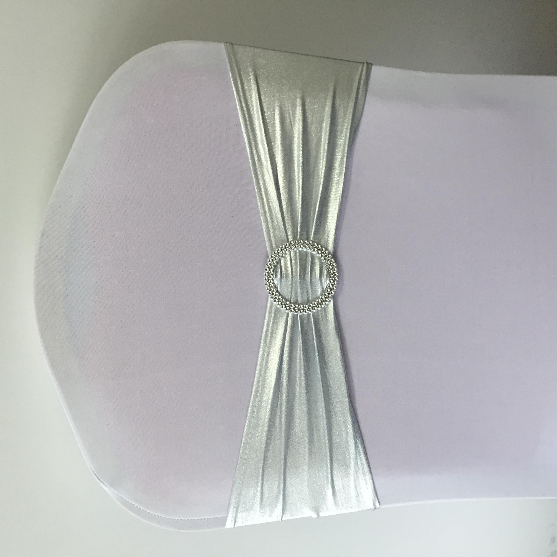 Wedding banquet metallic spandex chair sash chair band