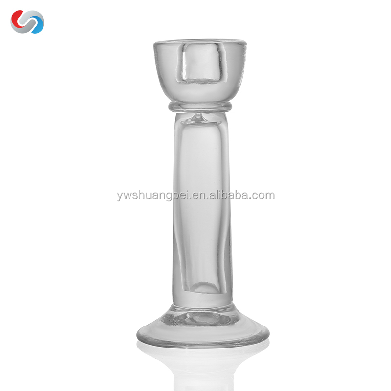 Wholesale Special Design Glass Candle Holder For Wedding Decoration