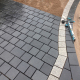 Grey Black Granite cobble stone For Pavement