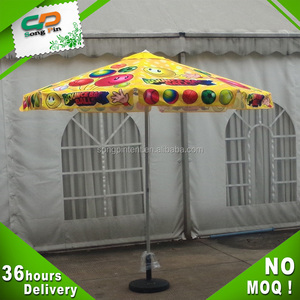 promotion cheap printing sun garden parasol umbrella parts
