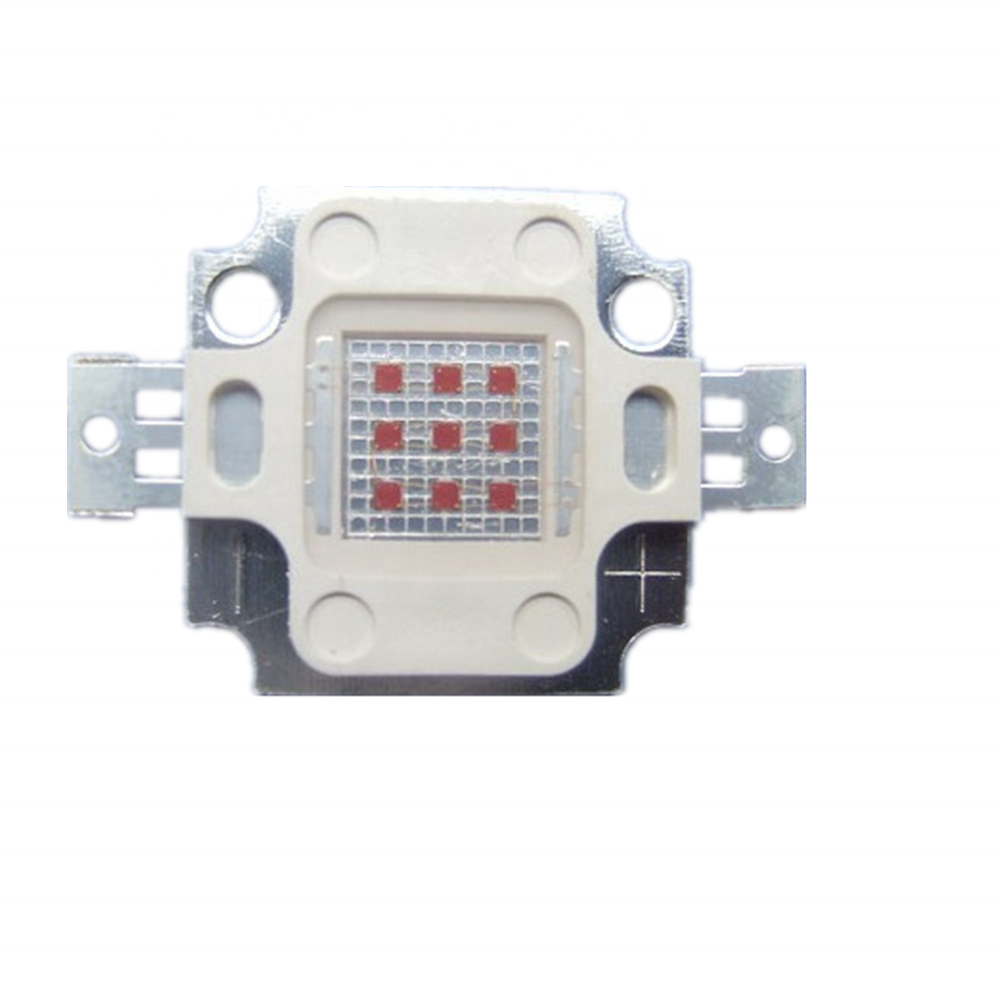 9 v-12 v Blauwe kleur 10 w cob led chip met 57mm lens kits 440nm 450-460nm 460-470nm 490-500nm