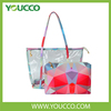 Large Clear Tote Bags PVC Beach Lash Package Tote Handbag with Interior Pocket