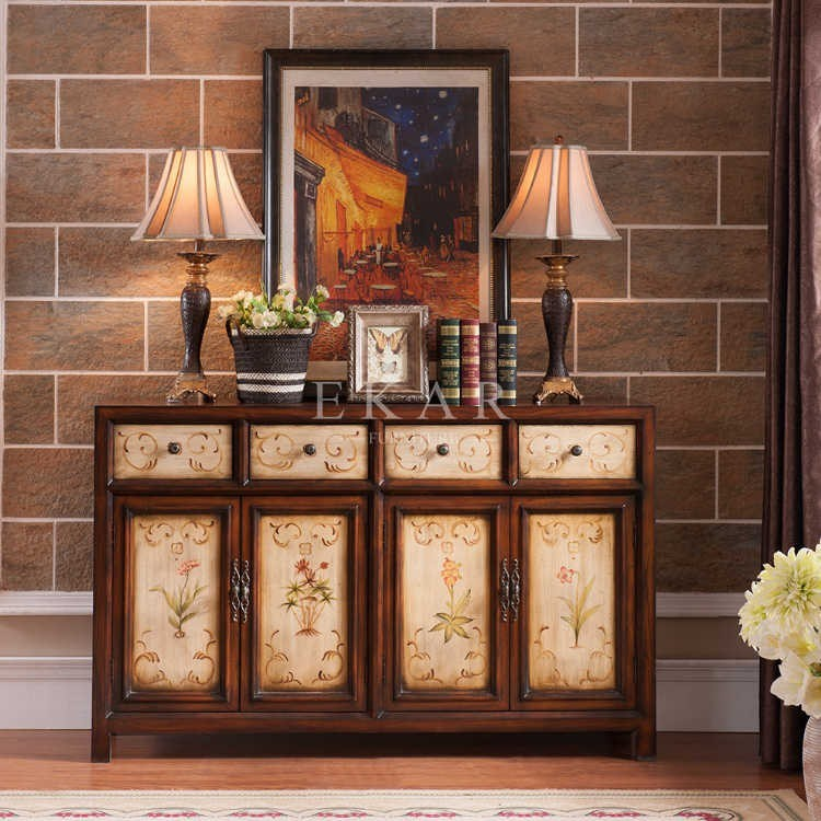 Buffet d coration buffets 4 tiroir buffet 4 portes armoire - Armoire de salon ...